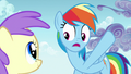Rainbow Dash pointing at storm clouds S7E14.png