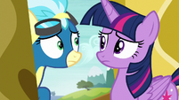 Twilight and Misty Fly look at each other S6E24