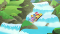 Apple Bloom and ponies go down another waterfall S6E4.png
