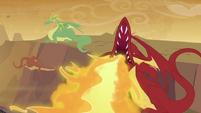 Dragon breathing fire S2E21