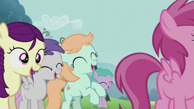 File:More foals cheering S5E18.png