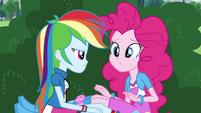 Pinkie Pie sniffing Rainbow Dash EG3