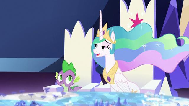 "File:Princess Celestia teasing ""sounds familiar"" S7E1.png"
