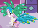 Sweetie Belle peacock dress ID S2E23