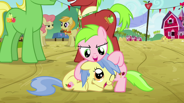 File:Two fillies playing with each other S3E08.png