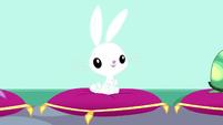 Angel sitting on a velvet pillow SS7