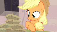 Applejack being offered food S5E01
