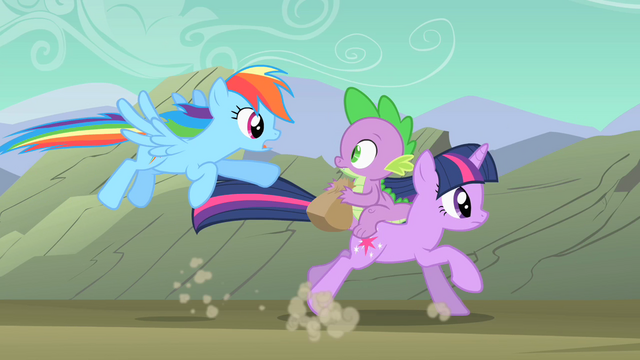File:Rainbow Dash flying after Twilight and Spike S01E19.png