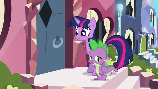 File:Crystal pony shuts door on Twilight and Spike S3E1.png
