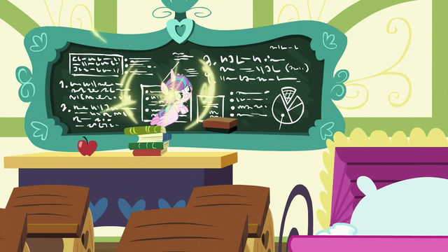 File:Flurry Heart teleports up to the chalkboard S7E3.png