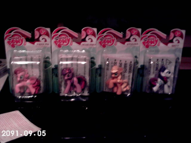 File:Pinkie Pie, Twilight, Applejack and Rarity toys in boxes.jpg