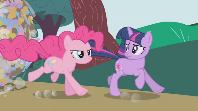 File:Pinkie galloping next to Twilight S1E10.png