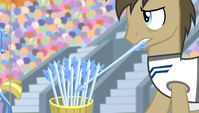Dr. Hooves picking up an arrow S4E24