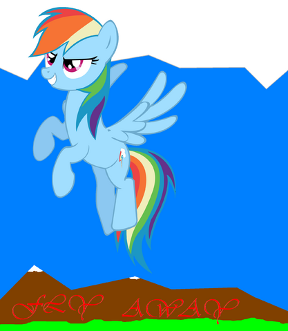 "File:FANMADE Rainbow Dash's ""Fly Away"".png"