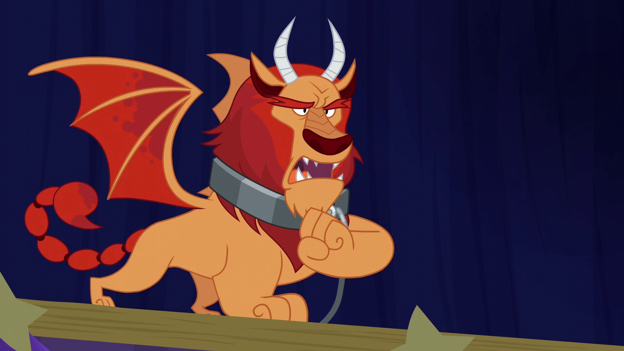 Image - Manticore belching loudly S6E6.png | My Little ...
