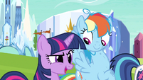 Rainbow Dash hears question S3E12