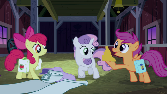 File:Scootaloo about to blow luster dust S3E04.png