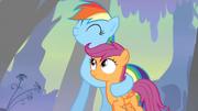 Dream Rainbow hugging Scootaloo S3E06.png