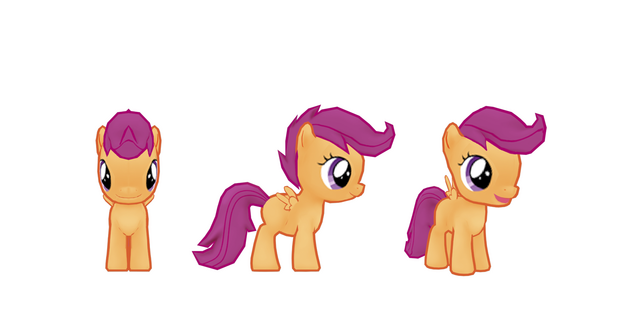 File:My little pony mobile game Scootaloo Model.png