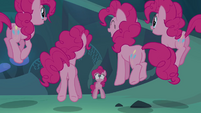 Pinkie Pie seeing her clones hopping S3E03