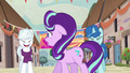 Starlight Glimmer uncomfortable by ponies' laughter S6E25.png