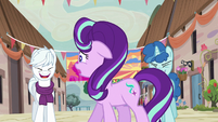 Starlight Glimmer uncomfortable by ponies' laughter S6E25