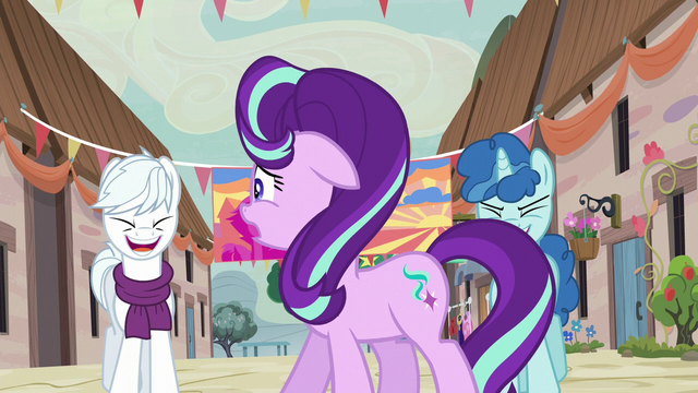 File:Starlight Glimmer uncomfortable by ponies' laughter S6E25.png