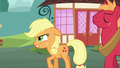 Applejack getting frustrated with Big Mac's talkativeness S6E23.png