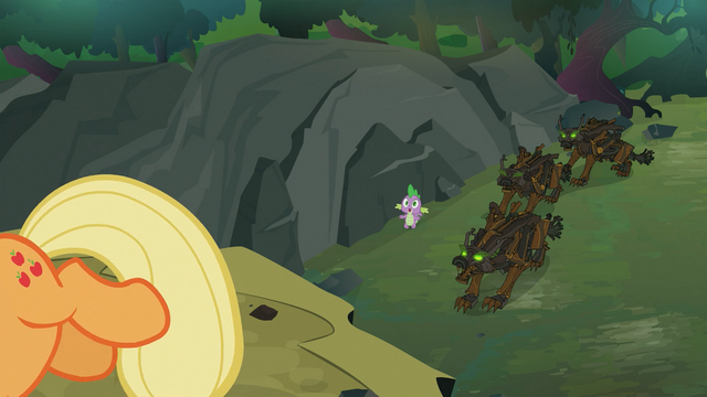 File:Applejack getting ready to kick a rock S3E9.png