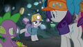 Maud Pie lightly kicks the cave wall S7E4.png