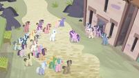 Ponies gathering around S5E02