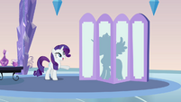 Rarity and Cadance's silhouette S03E12