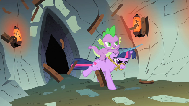 File:Spike and Twilight breaking the door S1E19.png
