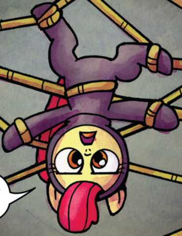 File:Comic issue 22 Apple Bloom sneaking outfit.png