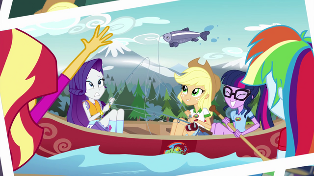 File:Photograph of Equestria Girls fishing in canoes EG4.png