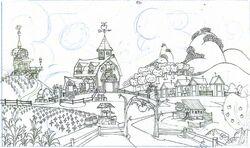 Dave Dunnet production sketch farm