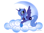 FANMADE Princess Luna on a cloud