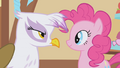 Gilda stares Pinkie Pie down S1E05.png