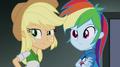 Applejack and Rainbow hear Trixie's voice EG2.png