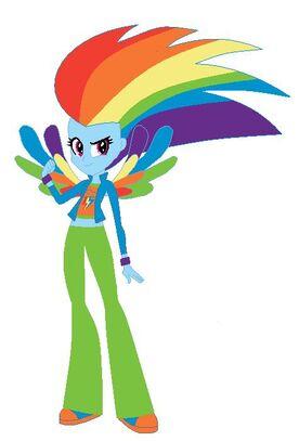 FANMADE Rainbow Dash Human Rainbowfied
