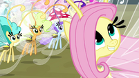 "Fluttershy ""I mean, let's go!"" S4E16"