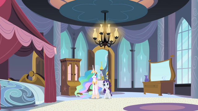 "File:Rarity ""I get to stay here?"" S2E9.png"