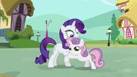 Sweetie Belle hugging Rarity S03E11