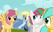 Derpy after Thunderlane leaves clear view S2E22