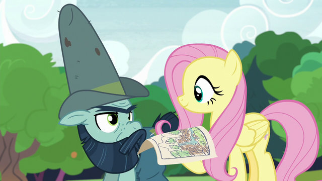 File:Fluttershy and Big Daddy working together S7E5.png