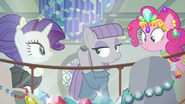 Maud Pie puts Boulder up to her ear S6E3