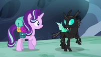 Thorax looking at his wings S6E26