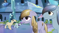 Crystal Ponies hear about the Crystal Faire S3E01