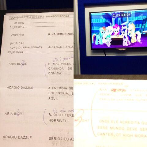 File:Equestria Girls Rainbow Rocks Brazilian dub script and image.jpg