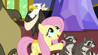 "Fluttershy ""better off up in one of the towers"" S6E21"